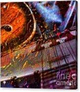 Play It Again Sam Digital Guitar And Banjo Art By Steven Langston Acrylic Print by Steven Lebron Langston