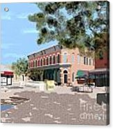 Plaza Acrylic Print by James Cole