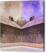 Pleasant View Country Barns Acrylic Print by Betsy C Knapp