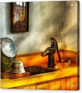 Plumber - The Wash Basin Acrylic Print by Mike Savad