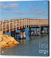 Plymouth Harbor Breakwater Acrylic Print by Catherine Reusch  Daley