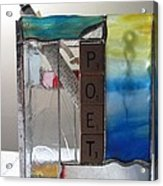 Poet Windowsill Box Acrylic Print by Karin Thue