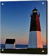 Point Judith- Sidelit At Sunset Acrylic Print by Thomas Schoeller