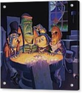 Poker Buddies Acrylic Print by Richard Moore