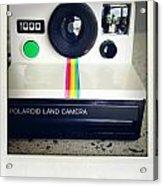 Polaroid Camera.  Acrylic Print by Les Cunliffe