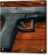 Police - Gun - The Modern Gun  Acrylic Print by Mike Savad