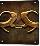 Police - Handcuffs Aren't Always A Bad Thing Acrylic Print by Mike Savad