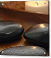 Polished Stones In A Spa Acrylic Print by Olivier Le Queinec