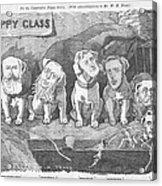 Political Puppy Class Acrylic Print by Konni Jensen