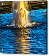 Pond Fountain Acrylic Print by Robert Bales