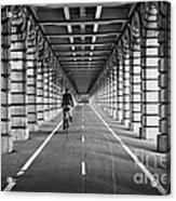 Pont De Bercy Acrylic Print by Delphimages Photo Creations