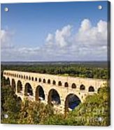 Pont Du Gard Roman Aqueduct Languedoc Roussillon France Acrylic Print by Colin and Linda McKie