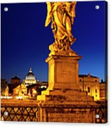 Ponte Sant Angelo Acrylic Print by Brian Jannsen