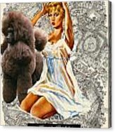Poodle Art - Una Parisienne Movie Poster Acrylic Print by Sandra Sij