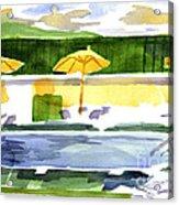 Poolside Acrylic Print by Kip DeVore