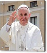 Pope Francis Acrylic Print by Diane Greco-Lesser