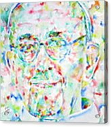 Pope Francis Watercolor Portrait Acrylic Print by Fabrizio Cassetta