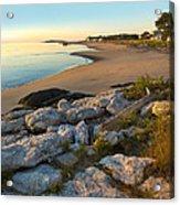 Popham Beach At Dawn Acrylic Print by Jim Block