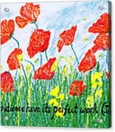 Poppies Acrylic Print by Catherine Saldana