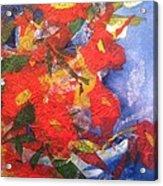 Poppies Gone Wild Acrylic Print by Sherry Harradence