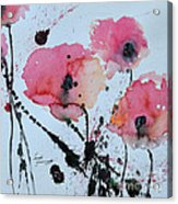 Poppies- Painting Acrylic Print by Ismeta Gruenwald