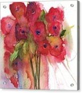 Poppies Acrylic Print by Sherry Harradence