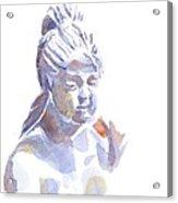 Porcelain Maiden In Watercolor Acrylic Print by Kip DeVore