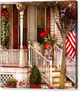 Porch - Americana Acrylic Print by Mike Savad