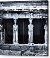 Porch Of The Caryatids Acrylic Print by John Rizzuto
