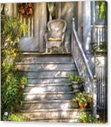 Porch - Westfield Nj - Grannies Porch  Acrylic Print by Mike Savad