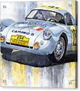 Porsche 550 Coupe 154 Carrera Panamericana 1953 Acrylic Print by Yuriy  Shevchuk