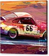 Porsche 911 Racing Acrylic Print by David Lloyd Glover