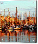 Port Vell - Barcelona Acrylic Print by Juergen Weiss