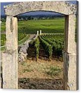 Portal  Of Vineyard.burgundy. France Acrylic Print by Bernard Jaubert