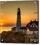 Portland Head Light At Sunrise II Acrylic Print by Clarence Holmes
