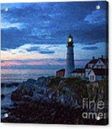 Portland Head Lighthouse Acrylic Print by Diane Diederich