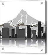 Portland Oregon Skyline 2 Acrylic Print by Daniel Hagerman