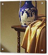 Portland Vase With Cloth Acrylic Print by Barbara Groff