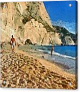 Porto Katsiki Beach In Lefkada Island Acrylic Print by George Atsametakis