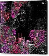 Portrait In Black - S01-02b Acrylic Print by Variance Collections