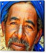 Portrait Of A Berber Man  Acrylic Print by Ralph A  Ledergerber-Photography