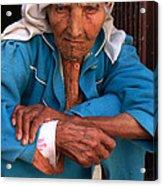Portrait Of A Berber Woman Acrylic Print by Ralph A  Ledergerber-Photography
