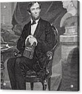 Portrait Of Abraham Lincoln Acrylic Print by Alonzo Chappel