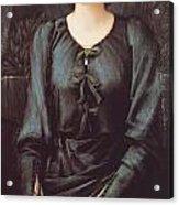 Portrait Of Baronne Madeleine Deslanders Acrylic Print by Edward Burne-Jones
