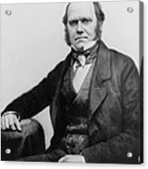 Portrait Of Charles Darwin Acrylic Print by English Photographer