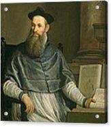 Portrait Of Daniele Barbaro Acrylic Print by Paolo Caliari Veronese