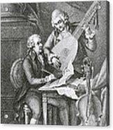 Portrait Of Franz Joseph Haydn Acrylic Print by John Francis Rigaud