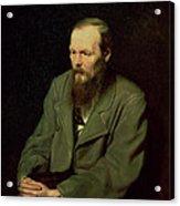 Portrait Of Fyodor Dostoyevsky Acrylic Print by Vasili Grigorevich Perov