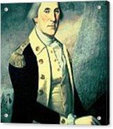 Portrait Of George Washington Acrylic Print by James the Elder Peale