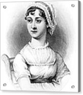 Portrait Of Jane Austen Acrylic Print by English School